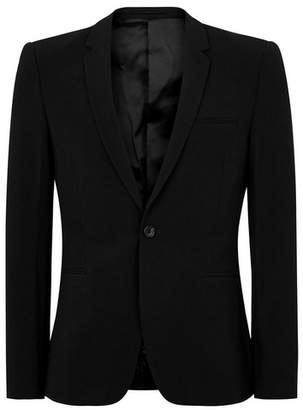 Topman Mens Black Spray On Suit Jacket