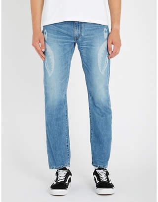 A Bathing Ape Shark-print slim-fit denim jeans