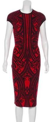 Alexander McQueen Patterned Intarsia Dress