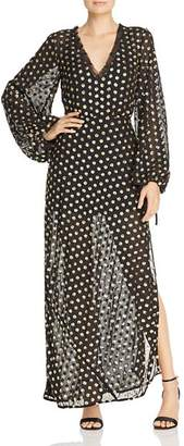 Finders Keepers Moonlight Sequined Polka-Dot Gown