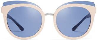 Tory Burch MIXED-MATERIALS PANAMA SUNGLASSES