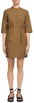 Whistles Darcy Poplin Drawstring Dress $249 thestylecure.com