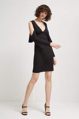 French Connenction Beau Viscose Jersey Cold-Shoulder Dress