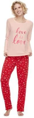 6a5b1dc3f8 Sonoma Goods For Life Women s SONOMA Goods for Life Raglan Graphic Tee   Pants  Pajama Set