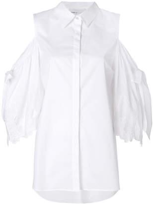 Isabelle Blanche off-shoulder buttoned shirt