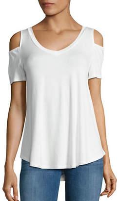 Lord & Taylor DESIGN LAB Cold Shoulder T-Shirt