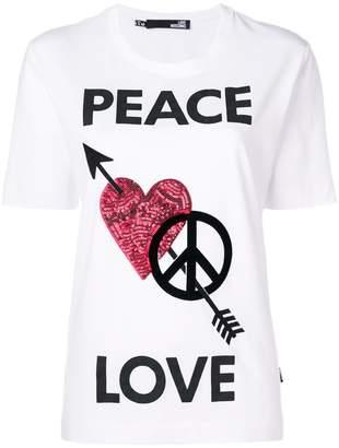 Love Moschino Peace Love T-shirt