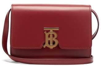 9e5850eddc60 Burberry Tb Monogram Leather Cross Body Bag - Womens - Burgundy