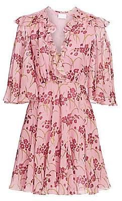 Giambattista Valli Women's Rose Quartz Primrose Cape Sleeve Dress