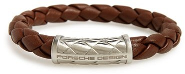 Men's Porsche Design 'Nexus' Woven Leather Bracelet