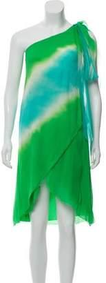 Diane von Furstenberg Tie-Dye Off-the-Shoulder Dress