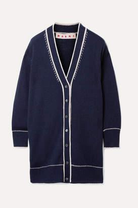 Marni Oversized Cashmere Cardigan - Navy