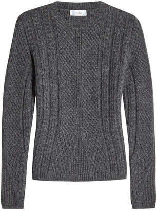 Max Mara Cable Knit Pullover with Virgin Wool and Camel Hair
