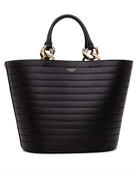 Balmain Leather Bag With Metail Chain Detail