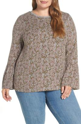 Lucky Brand Hacci Print Sweater