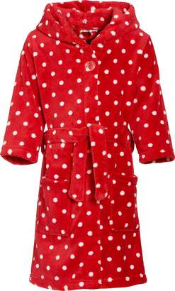 Playshoes Girl's Dots Dressing Gown