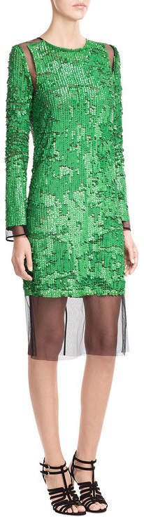 Emilio Pucci Emilio Pucci Sequin Dress with Tulle