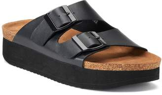 So SO Goldfish Women's Footbed Sandals