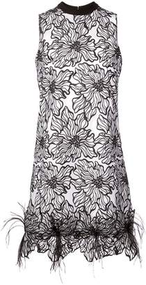 Nha Khanh floral lace mini dress