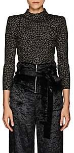 A.L.C. Women's Maeve Leopard-Pattern Jacquard Top - Black