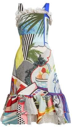 Mary Katrantzou Kara Pop Art Print Crepe Dress - Womens - Multi