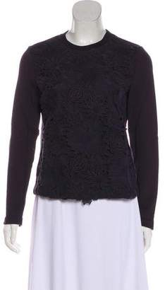 Tory Burch Floral Crew Neck Sweater