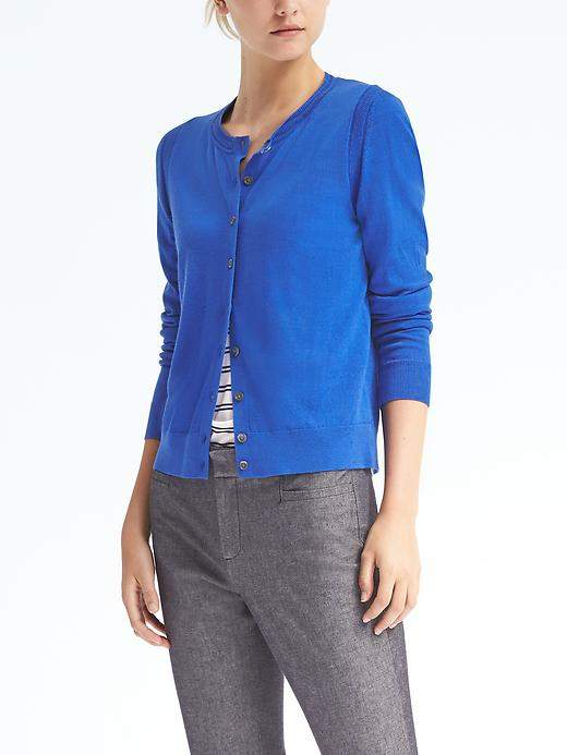 Banana Republic  Merino Pointelle Cardigan