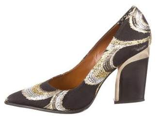 By Malene Birger Woven Pointed-Toe Pumps