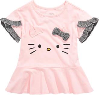 Hello Kitty Toddler Girls 3D Ruffled Top