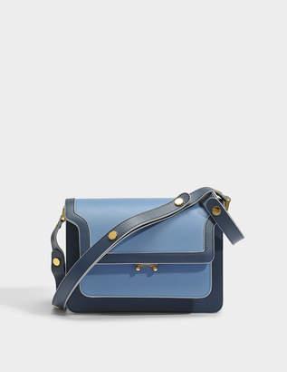 Marni Medium Trunk Bag in Opal Saffiano Leather