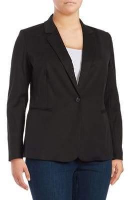 Vince Camuto Plus Lace-Up Back Jacket