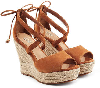 UGG Suede Wedge Sandals