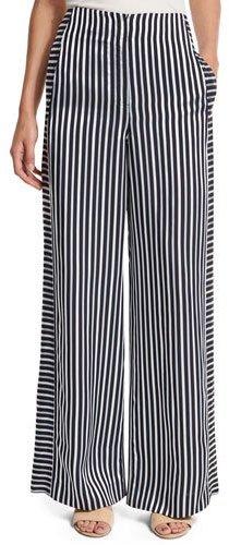 Elizabeth And JamesElizabeth and James Jones High-Rise Striped Wide-Leg Trousers