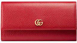 Gucci Petite Marmont Leather Flap Wallet