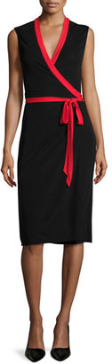 Diane von Furstenberg Valena Sleeveless Jersey Wrap Dress $398 thestylecure.com