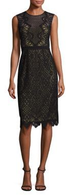 BCBGMAXAZRIA Suzannah Scalloped Lace Dress $398 thestylecure.com