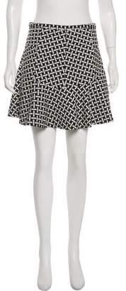Diane von Furstenberg Abstract Print Mini Skirt