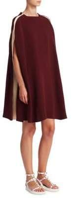Valentino Side Panel Cape Dress