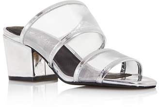 Sol Sana Women's Keira Leather & Mesh Block Heel Mules - 100% Exclusive