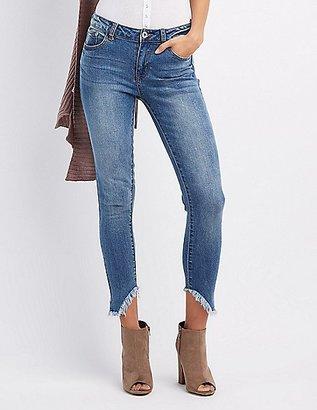 Frayed Hem Destroyed Skinny Jeans $32.99 thestylecure.com