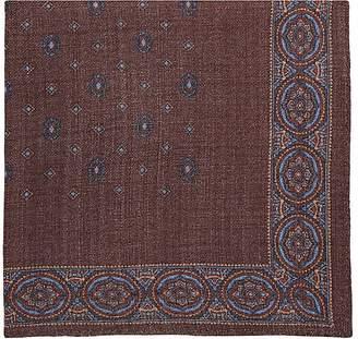 Fairfax Men's Medallion-Print Wool Pocket Square