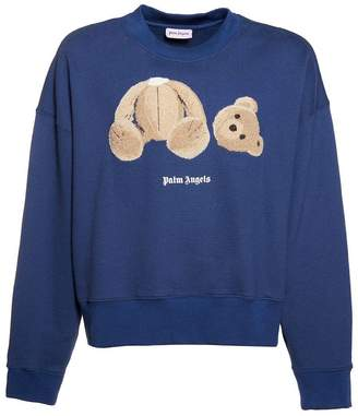 Palm Angels kill the bear crewneck cropped sweater