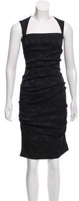 Nicole Miller Ruched Jacquard Dress