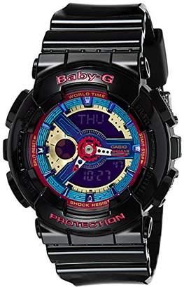 Casio G Shock Women's BA-112-1ACR Baby-G Analog-Digital Display Quartz Watch