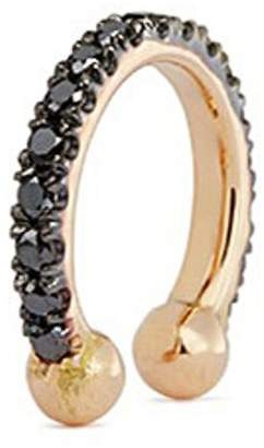 Black Diamond Kim Mee Hye 'Single Rocker' 18k rose gold lip ring