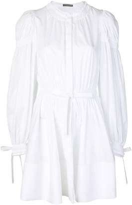 Alexander McQueen gathered sleeve dress