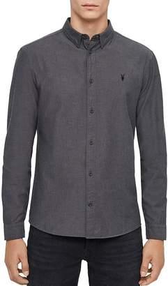 AllSaints Sulzer Lightly Brushed Cotton Flannel Slim Fit Button-Down Shirt