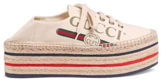 Gucci logo platform espadrille