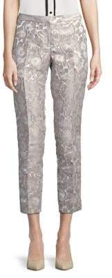 Calvin Klein Floral Jacquard Cropped Pants