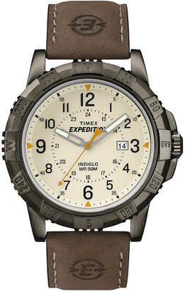 Timex Rugged Mens Leather Strap Field Watch